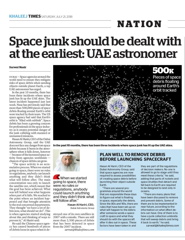 Clean up space junk