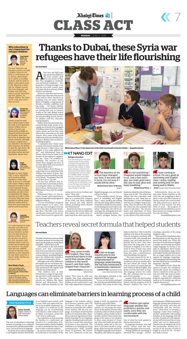 Syrian war victims getting education-page-001