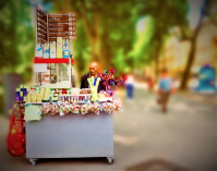 A stall owner in Zagreb, Croatia