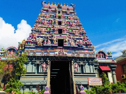 A Hindu temple in Seychelles