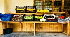 A fresh fruit stand in Mestia, Georgia