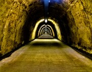 A dark tunnel in Zagreb, Croatia