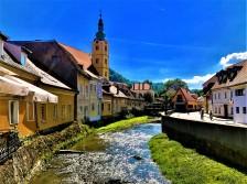 A river in Zagreb, Croatia